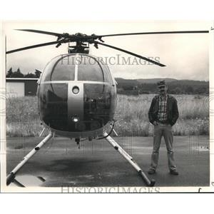 1985 Press Photo Helicopter Pilot John M Cage Jr - orb13363