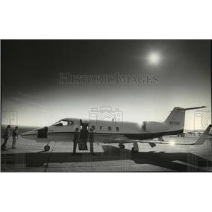 1981 Press Photo The Gates Learjet Corp previewed its new Learjet Model 55