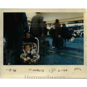 1998 Press Photo A baby at Portland International Airport - orb36520