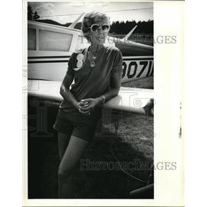 1982 Press Photo Velda King Mapelli President of '82 Air Race Classic - ora57199