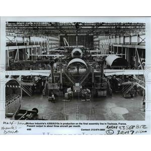 1985 Press Photo Airbus Industries A300/A310s in production in Toulouse, France