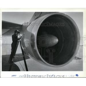 1987 Press Photo Airplanes Tankers KC135 - spa21845
