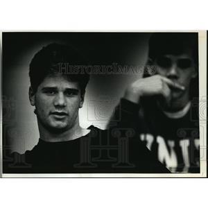 1991 Press Photo Matt Hanley, sophomore at Oak Creek High School - mja06116