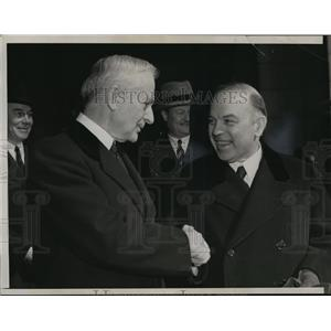 1937 Press Photo Canadian Prime Minister W.L Mackenzie King & Cordell Hull