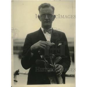 1926 Press Photo Hawaiian golfer Franklin Richardson arrives in United States