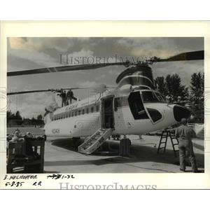 1985 Press Photo Columbia Helicopters, Inc. and its Boeing Vertol 234