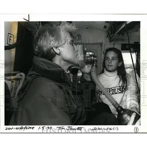1990 Press Photo Life Flight Helicopter Nurse Jann Churchill & Kara Uffelman