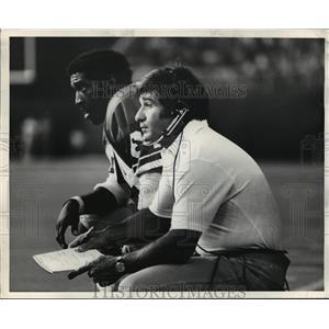 1977 Press PhotoSam MCullum, Seahawks wide receiver & Sam Boghosian, Asst. Coach
