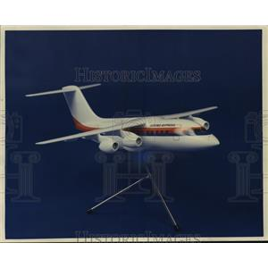1986 Press Photo A model of an Air Wis aircraft in United Express colors