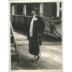 1924 Press Photo Quida Bergere Writer Actress Divorce