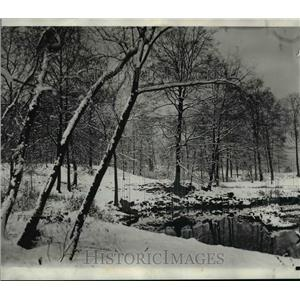 1931 Press Photo Wade Park at Cleveland Ohio covered with Snow - nef12536
