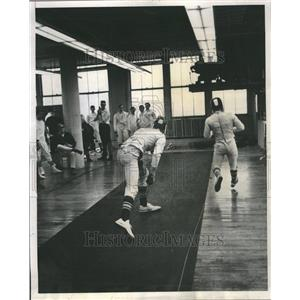 1969 Press Photo Fencing - RRR53533