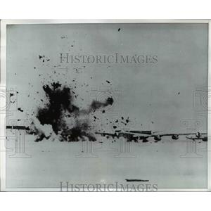 1970 Press Photo Debris flies of the three hijacked jet exploded by guerillas