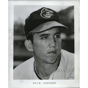 1968 Press Photo Dave Johnson, second baseman for the Baltimore Orioles