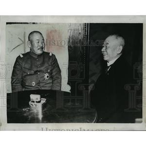 1934 Press Photo General Jiro Minami and Premier Keisnke Okada in Tokyo, Japan