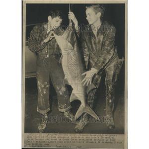 1948 Press Photo Ohio River Giant Catfish