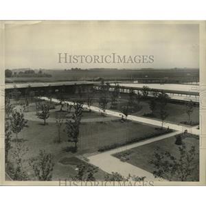 1930 Press Photo View of the Arlington Park Jockey Club. - mjx18540