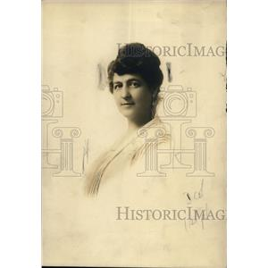1919 Press Photo Bina M. West, Supreme Commander of the Woman's Benefit Assn.