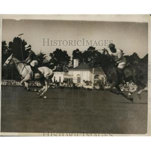 1931 Press Photo Will Tevis, Earl Hopping Jr at polo at Beresford CA - net27584