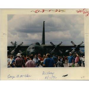1992 Press Photo Portland Rose Festival Air Show - orb50611