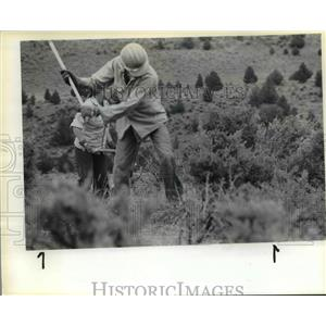 1983 Press Photo Bureau of Land Management-temporary helicopter landing site