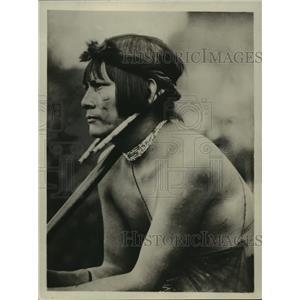 1928 Press Photo A Head Hunter To Rescue Colonel Fawcett In Brazilian Wilderness
