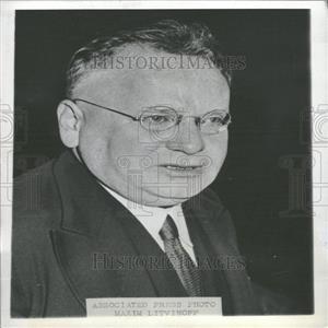 1936 Press Photo Maxim Maximovich Litvinovoff Soviet