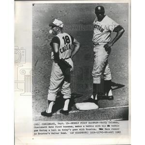 1965 Press Photo Gordy Coleman Cincinnati Reds Bubble