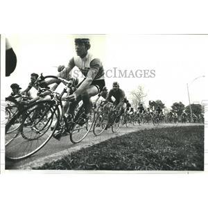 1980 Press Photo Lincoln Park Chicago Cycling Stockton - RRR82289