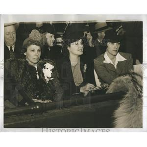 1940 Press Photo Actresses Gail Patrick Edward Frawley - RRR30859