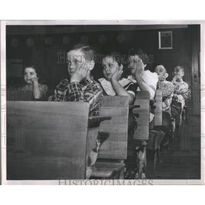 1952 Press Photo Spelling bee Crosman school
