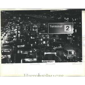 1983 Press Photo Traffic Jam O'Hare
