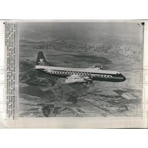 1960 Press Photo NW Airlines Electra Crashes Indiana