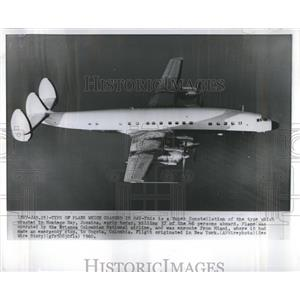1960 Press Photo Super Constellation Plane Avianca