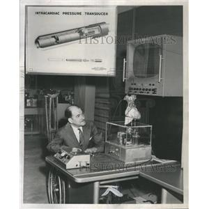 1957 Press Photo Ford Motor Co Scientist Herman Wolf
