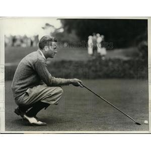 1931 Press Photo Hardy Eichelberger of Stanford U at Intercollegiate golf