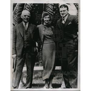 1934 Press Photo Wash, Senator manager Joe Cronin, Pres Clark Griffith