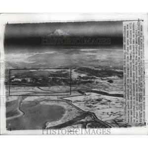 1957 Press Photo Tacoma, Washington Nisqually Tide Flats to be Navy Ammo Dump