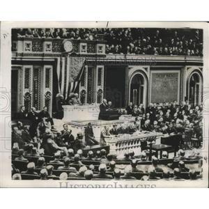 1947 Press Photo World War I 30th Anniversary Woodrow Wilson Congress Address