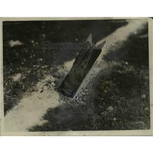 1926 Press Photo Bomb Dropped During Target Practice, Mather Field, California