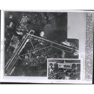 1962 Press Photo Major airfield Cuba Jet bomb Pentagon
