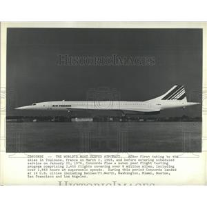 1981 Press Photo Worlds Most Tested Aircraft Toulouse