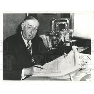 1936 Press Photo Ex-Chicago Mayor William Hale