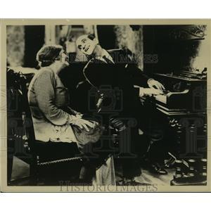 """1927 Press Photo Eugenie Besserer, Al Jolson in """"The Jazz Singer"""" - lfx03977"""