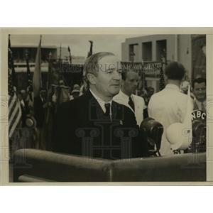 1939 Press Photo New York Gustav Moller speaks at Worlds Fair NYC - neny06116