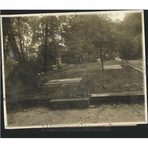 1923 Press Photo Grave Col John Hamtramek