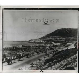 1942 Press Photo Moroccan City Riverfront  - ftx00139