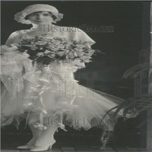 1929 Press Photo Mrs. Curtis Freiberger's Wedding
