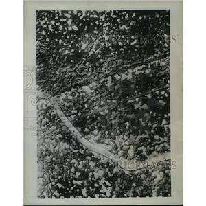 1944 Press Photo French War Zone World War I Aerial View - ftx01225