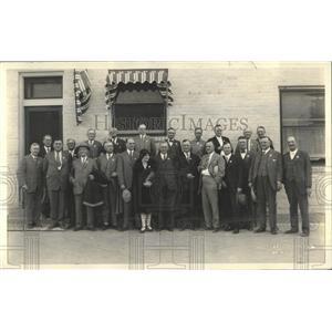 1927 Press Photo numerous businessman Denver Colorado